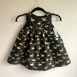 Black and Gold Swan Dress